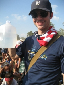 Me and my water jug at Bonnaroo.