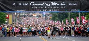 The 2012 Country Music Marathon & Half starting line