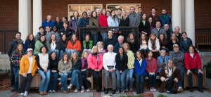 Here's our staff photo from last year's fall retreat.