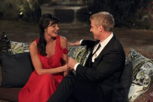 Bachelor Sean hands out a rose on last week's premier. (Photo from abc.go.com)