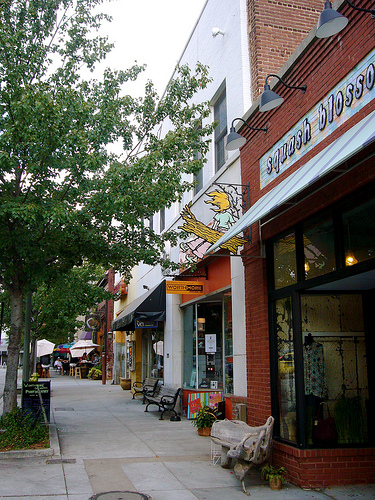 Neighborhoods like Atlanta's Virginia-Highland have accessible retail storefronts, a mix of businesses and homes and a high degree of walkability.